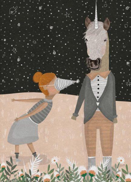 Unicorn Party Leinwandbild