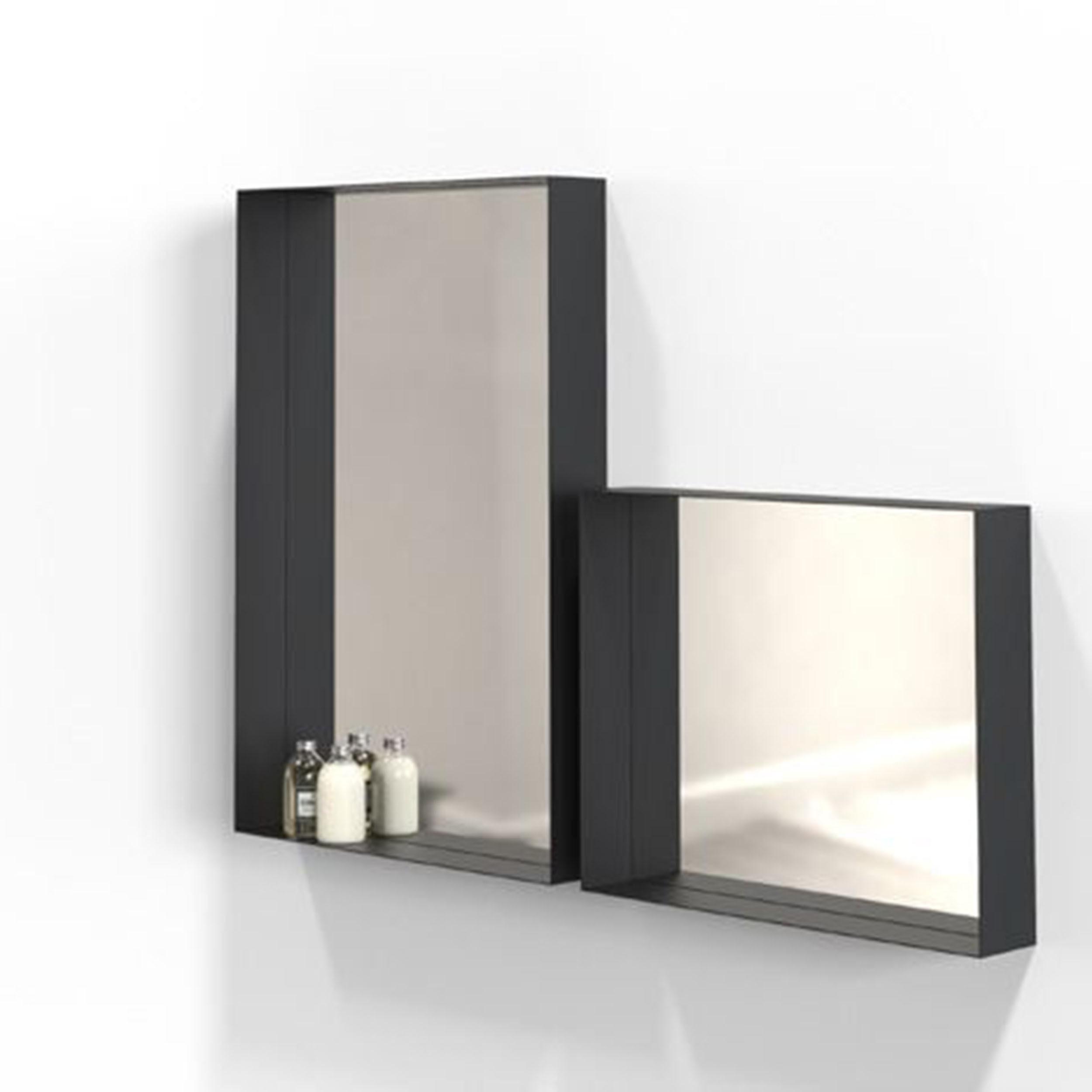 unu spiegel mit rahmen 50 schwarz online. Black Bedroom Furniture Sets. Home Design Ideas