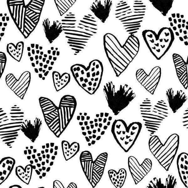 Valentines B&W Leinwandbild