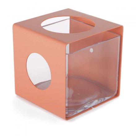 Vase ALIACTA beigerot rot Glas