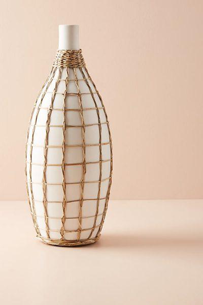 Vase mit Seegras-Umwicklung - Ivory44268712EU