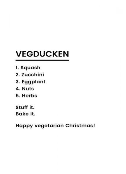 Vegan Christmas Recipe Leinwandbild