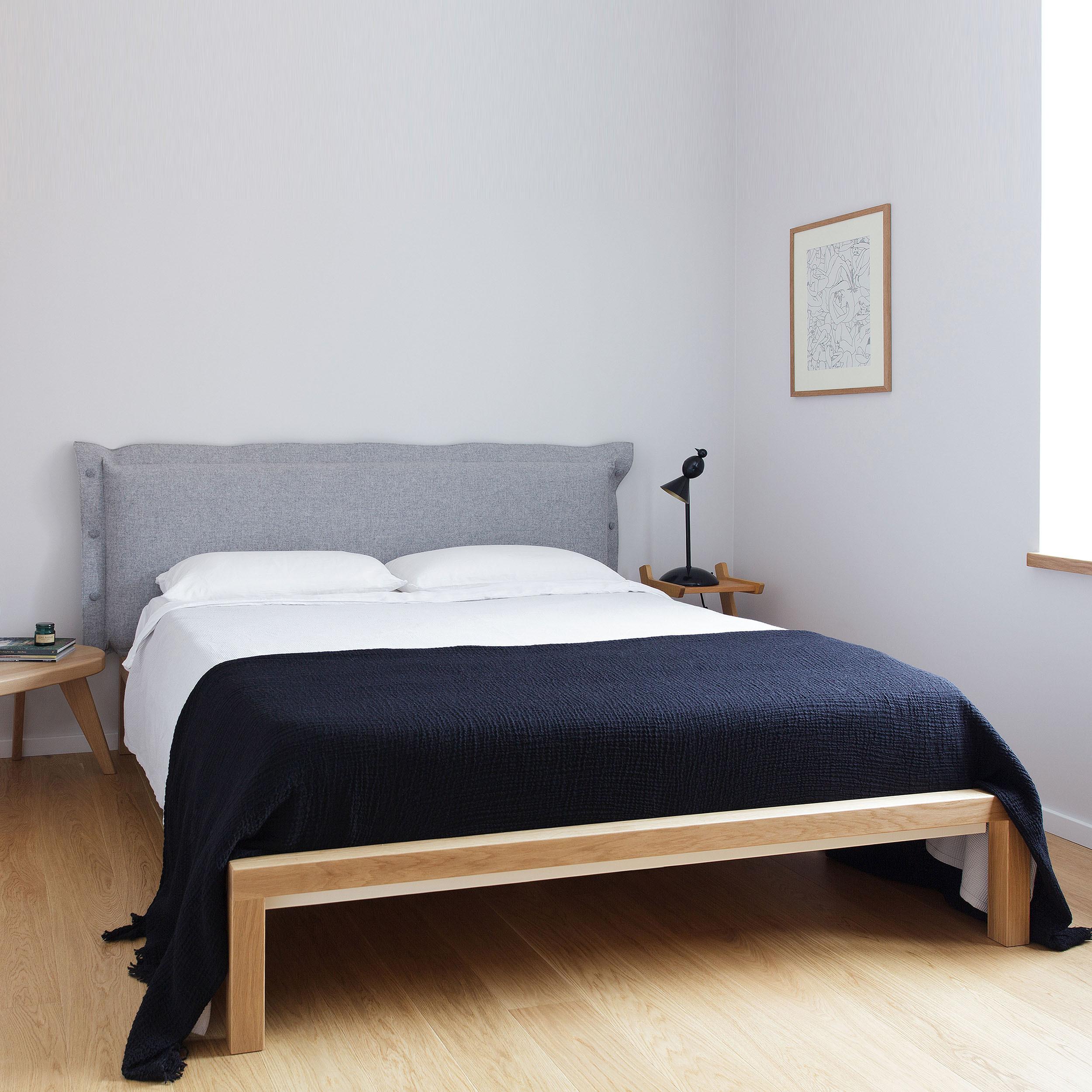 Velito Bett mit gepolstertem Kopfteil 160 grau - - A055988 ...