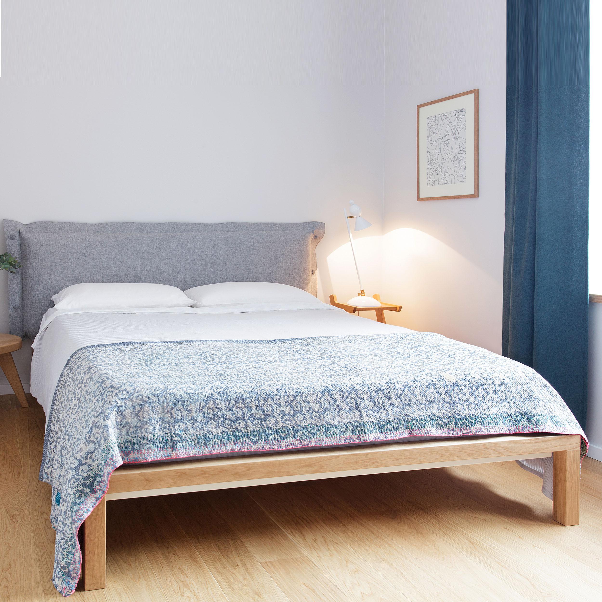 velito bett mit gepolstertem kopfteil 180 grau online kaufen bei woonio. Black Bedroom Furniture Sets. Home Design Ideas
