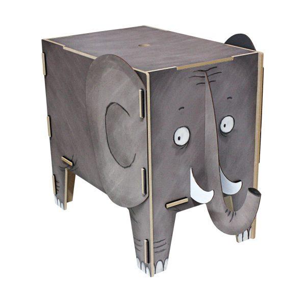 Vierbeiner Hocker und Beistelltisch Elefant