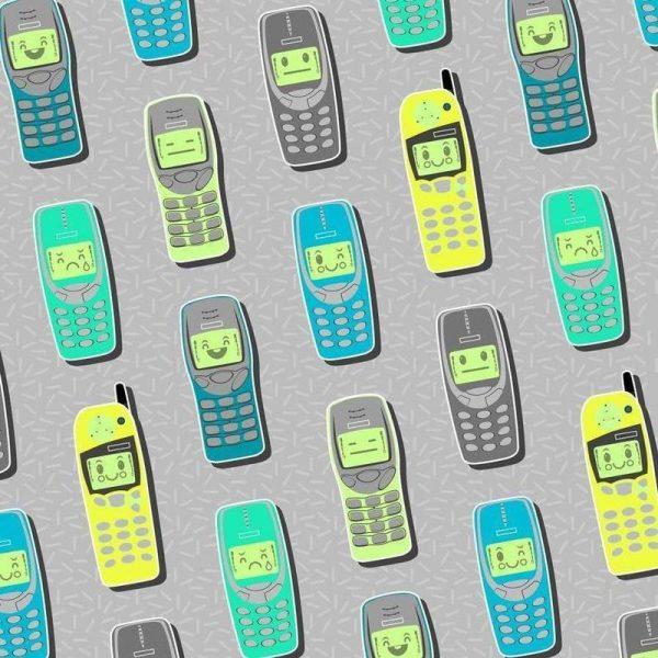 Vintage Cellphones Leinwandbild