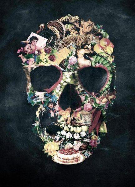 Vintage Skull Leinwandbild