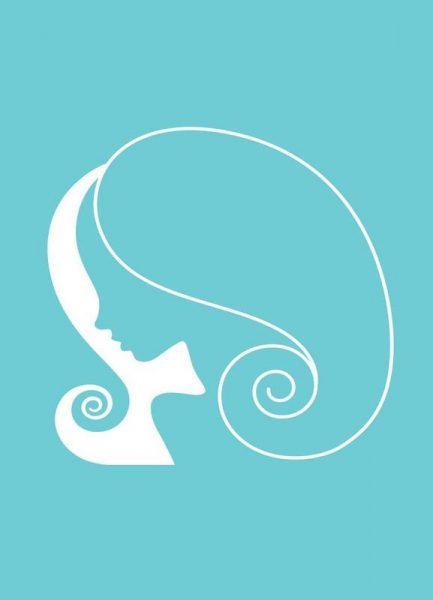 Virgo Turquoise Leinwandbild