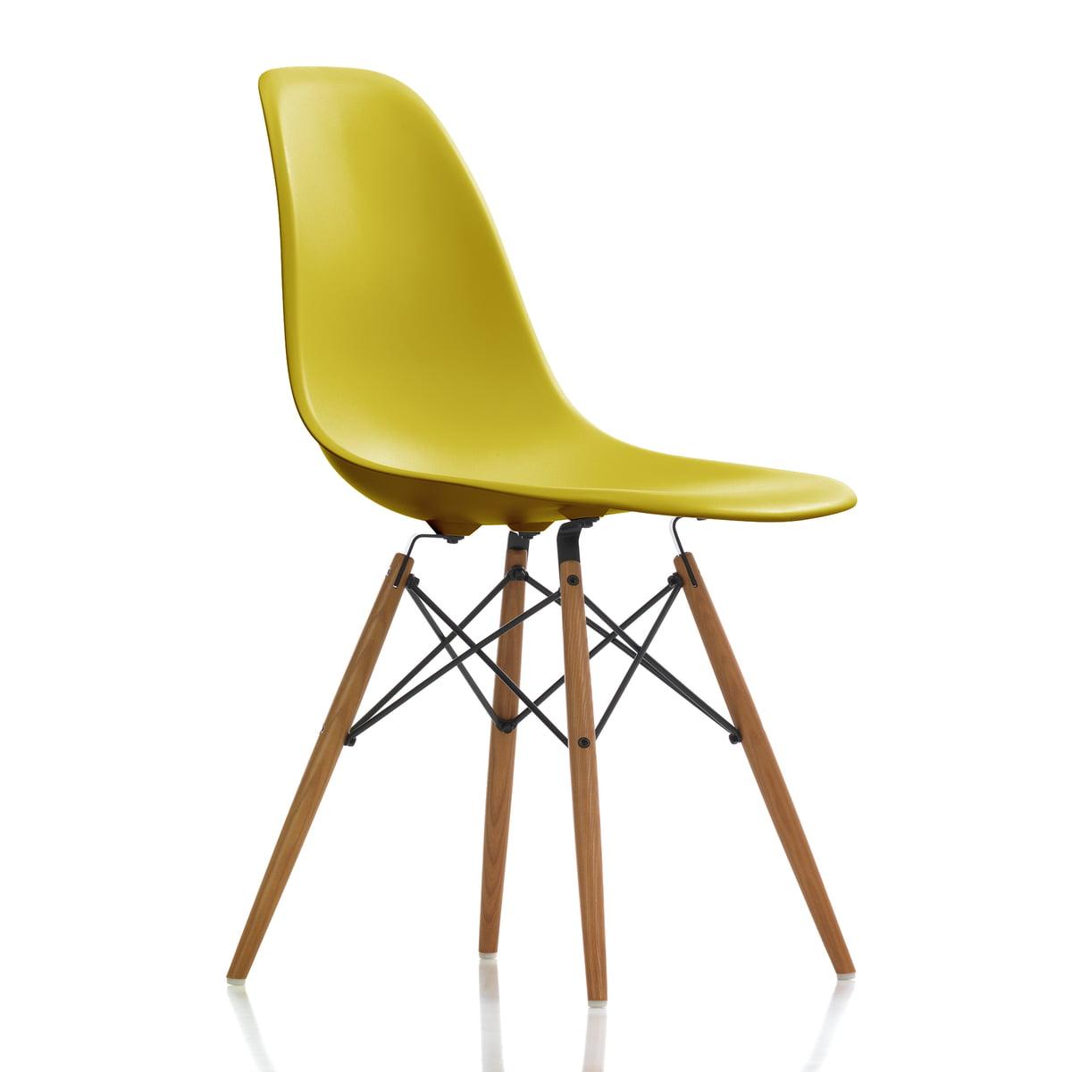 Vitra Eames Plastic Side Chair Dsw H 43 Cm Esche Honigfarben