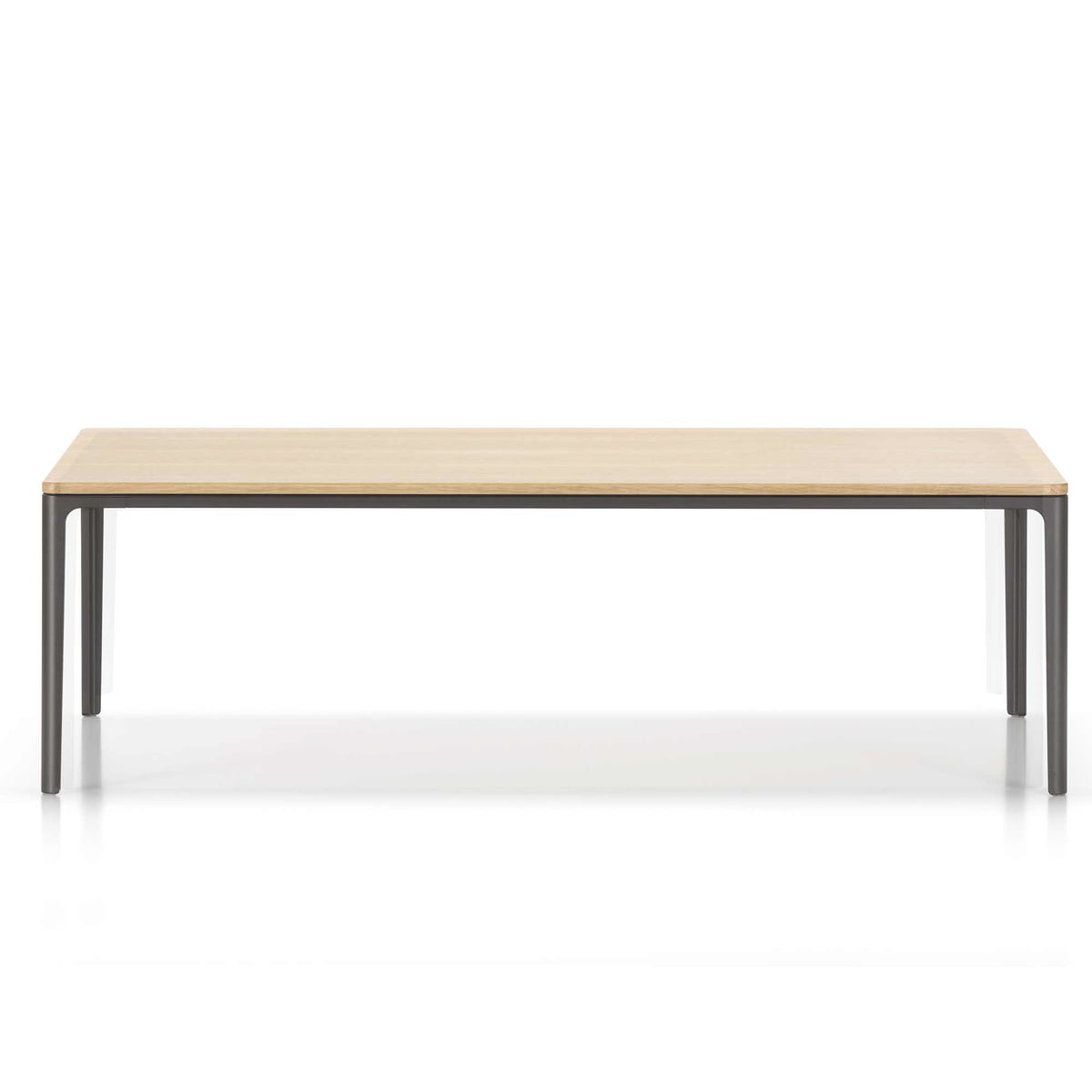 Vitra Plate Table Couchtisch 120 Cm Eiche Natur Chocolate