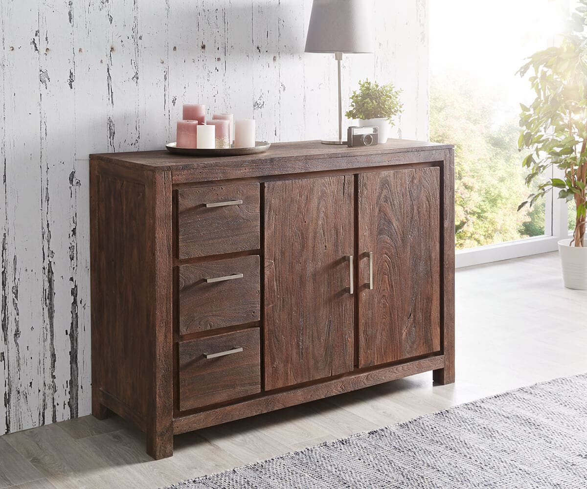 wolf m bel sideboard creed 118 cm akazie tabak 2 t ren 3 sch be sideboards 12064 online kaufen. Black Bedroom Furniture Sets. Home Design Ideas