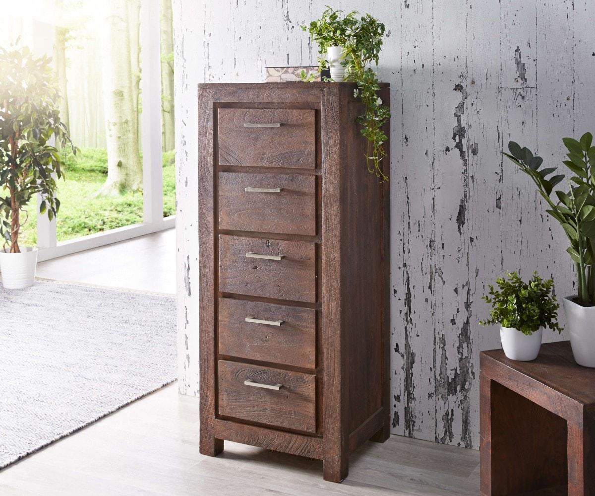 wolf m bel sideboard creed 50 cm akazie tabak massivholz 5 sch be sideboards 12066 online. Black Bedroom Furniture Sets. Home Design Ideas