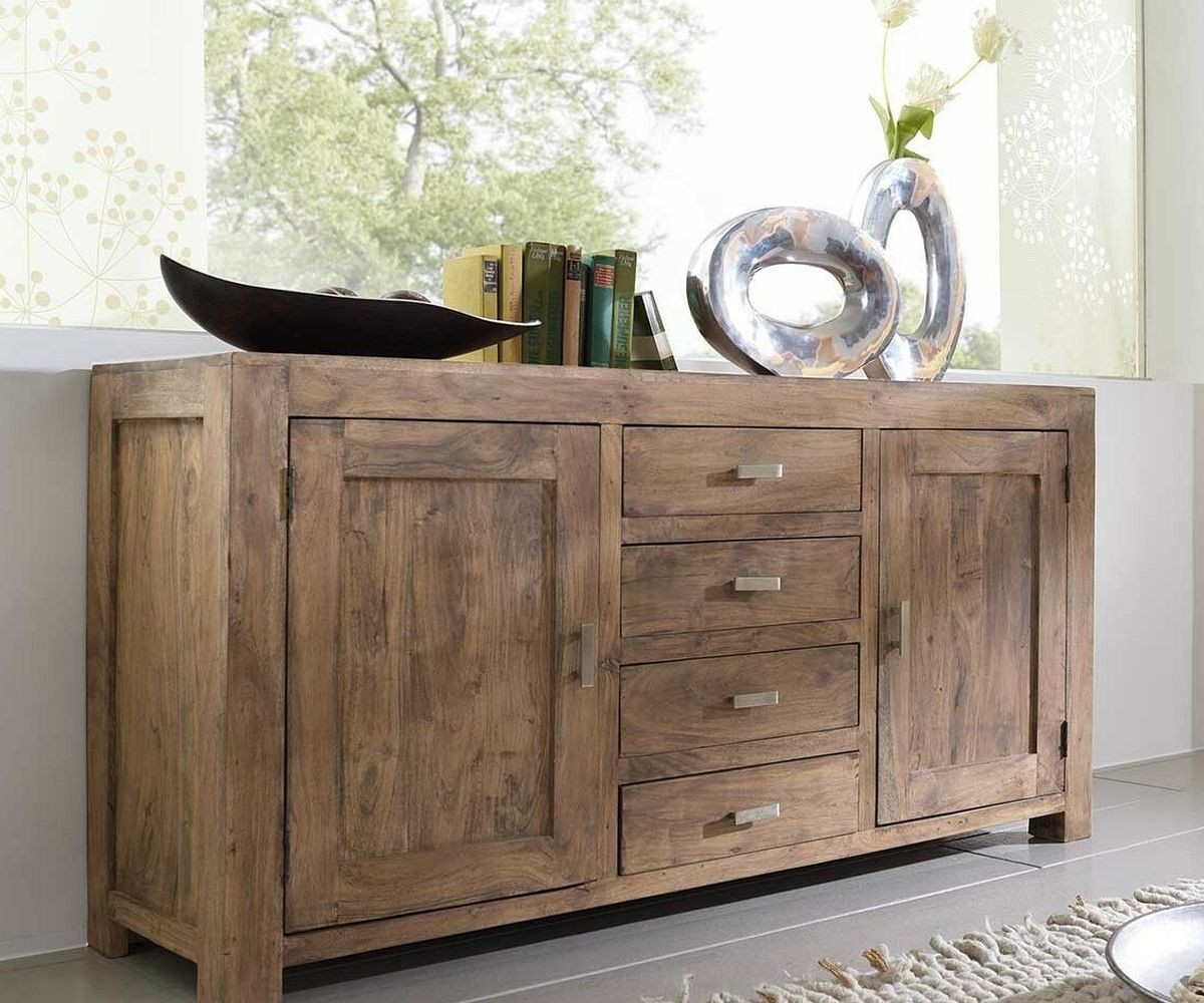 wolf m bel sideboard guru 175 cm akazie stone 4 sch be by wolf sideboards 957 online kaufen bei. Black Bedroom Furniture Sets. Home Design Ideas