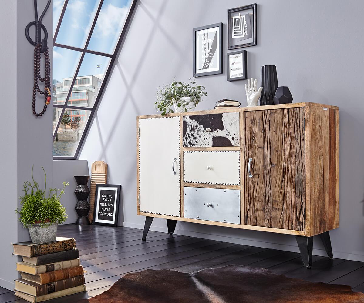 wolf m bel sideboard himalaya 140 cm mango natur 3 sch be. Black Bedroom Furniture Sets. Home Design Ideas