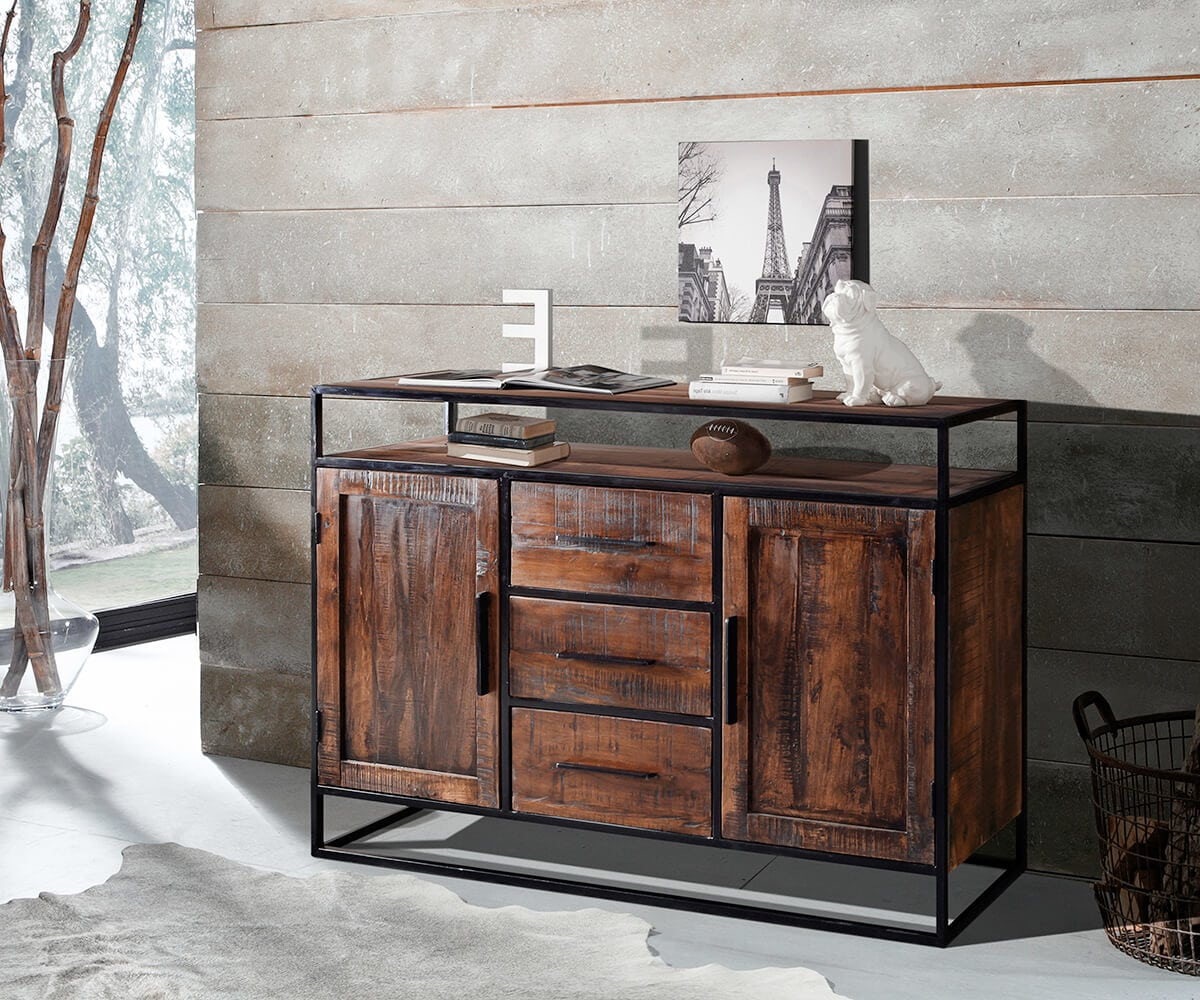 wolf m bel sideboard spring 150 cm akazie forest 2 t ren 3 sch be sideboards 12006 online. Black Bedroom Furniture Sets. Home Design Ideas