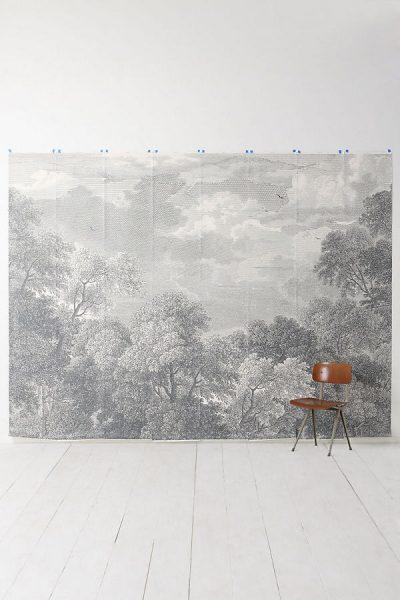 Waldstück Tapete - Grey Motif5340054