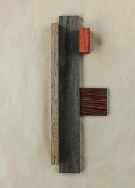 Walnut Cocobolo Wood Leinwandbild
