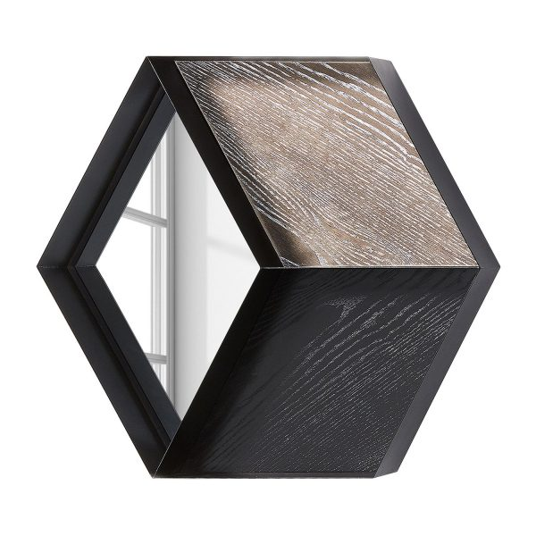 Wandspiegel Signal - Stahl - Schwarz