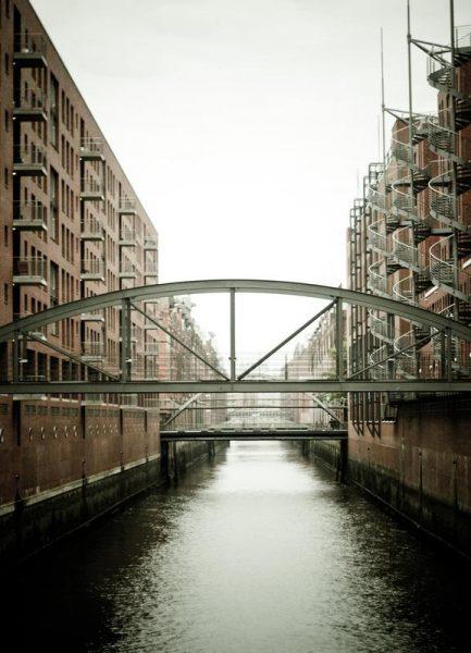 Warehouse District Hamburg I Leinwandbild