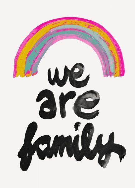 We Are Family Leinwandbild