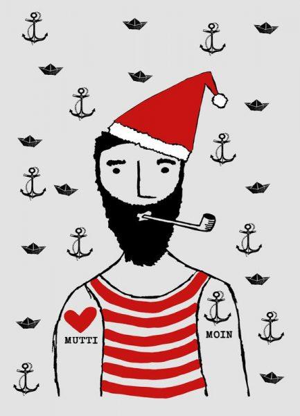 Weihnachtsmann Leinwandbild