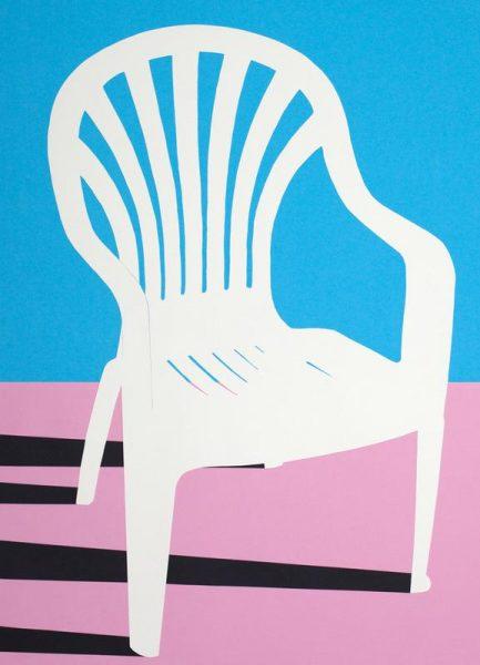 White Plastic Chair Leinwandbild