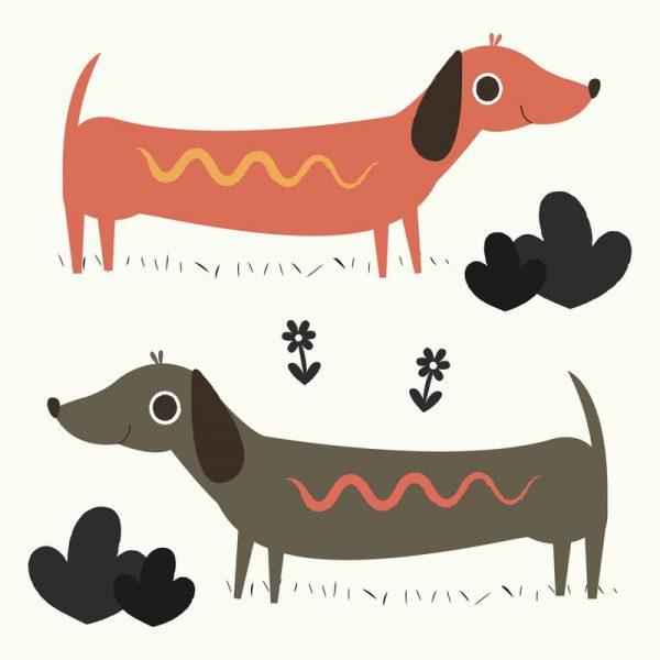 Wiener Dogs Leinwandbild