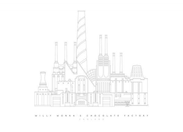 Willy Wonka´s Chocolate Factory Leinwandbild