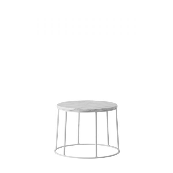 Wire Table Beistelltisch 20 weiß