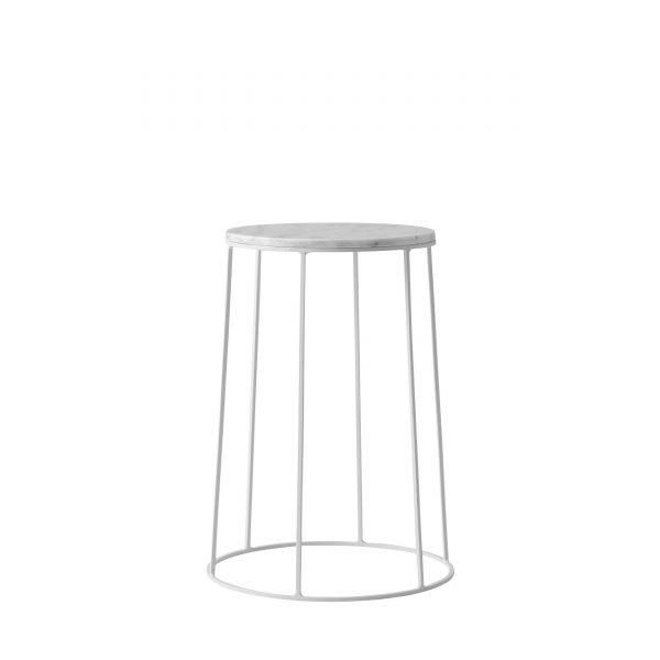 Wire Table Beistelltisch 40 weiß