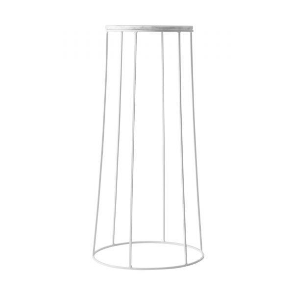 Wire Table Beistelltisch 60 weiß