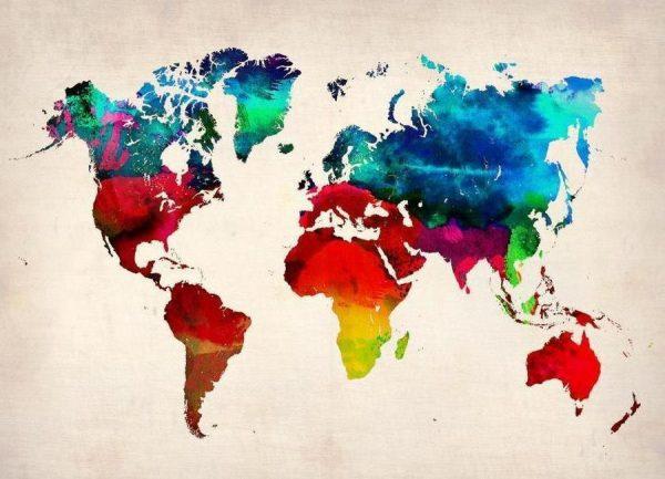 World Map Leinwandbild