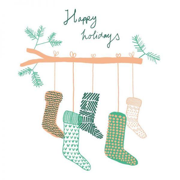 Xmas Happy Holidays 2 Leinwandbild