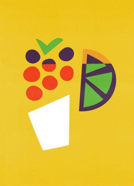 Yellow Cocktail Leinwandbild