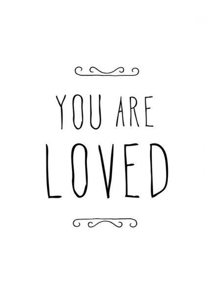 You Are Loved Leinwandbild