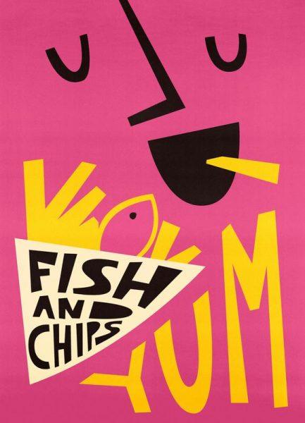 Yum Fish and Chips Leinwandbild