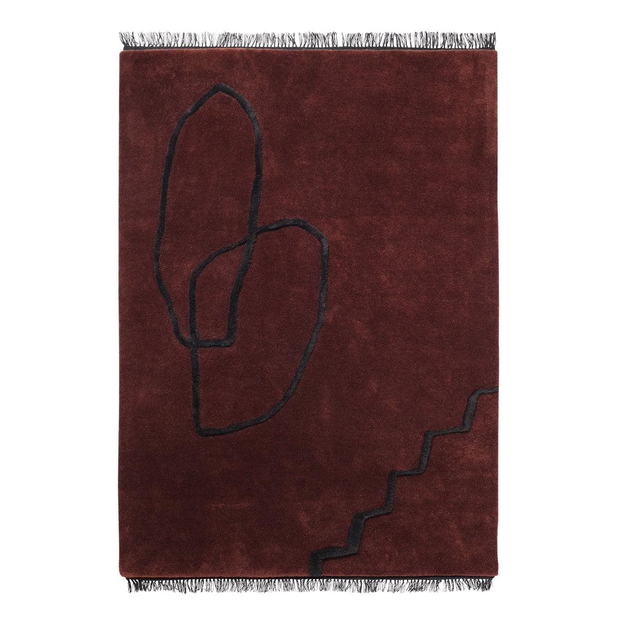 ferm living desert tufted teppich rost rostbraun t 140 h 1 b 200 online kaufen bei woonio. Black Bedroom Furniture Sets. Home Design Ideas