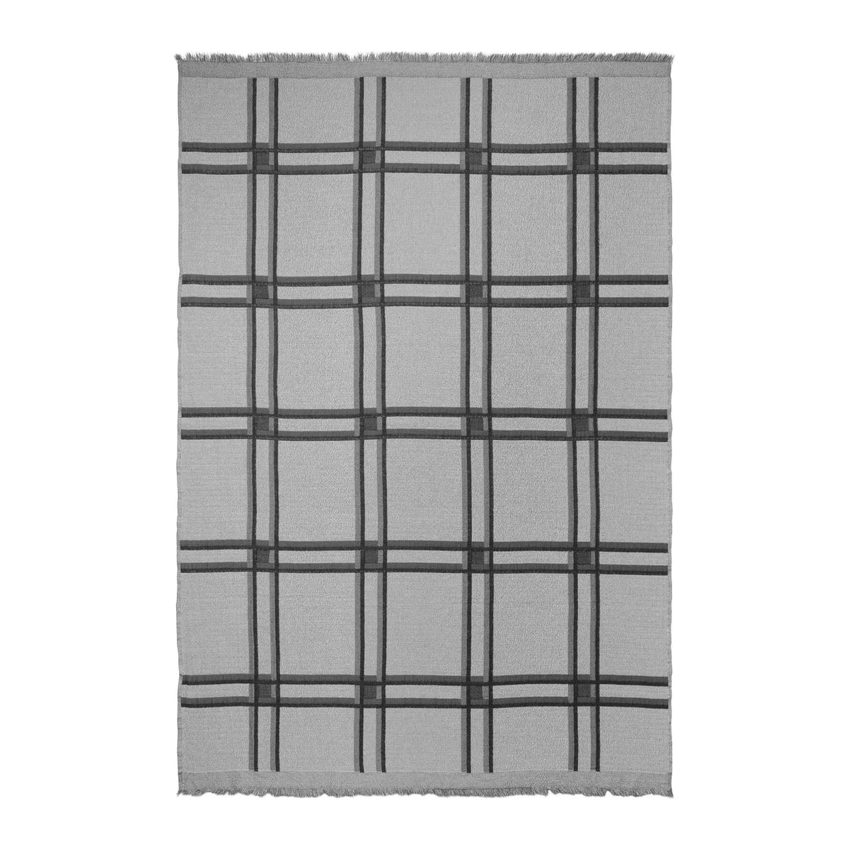 ferm living karierte wolldecke grau grau t 130 h 0 b 180 online kaufen bei woonio. Black Bedroom Furniture Sets. Home Design Ideas