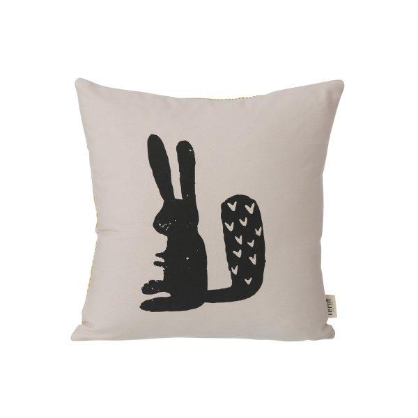 ferm Living - Rabbit Kissen 30 x 30 cmGrauT:30 B:30