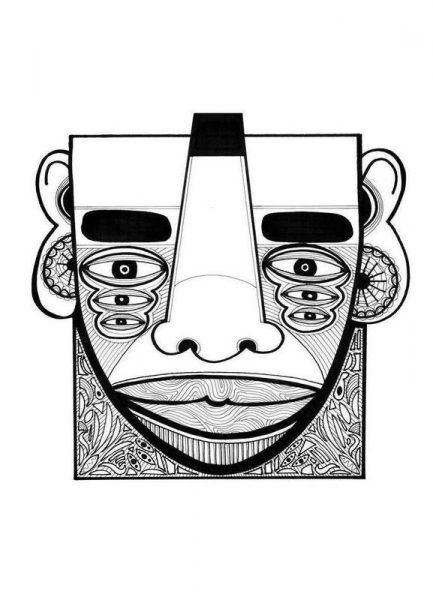 mask 1 Leinwandbild