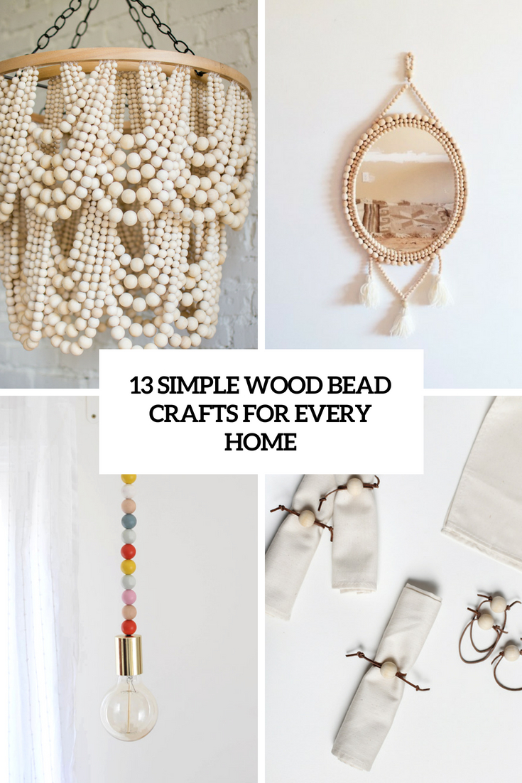 13 simple wood bead crafts for every home wohnidee by woonio. Black Bedroom Furniture Sets. Home Design Ideas
